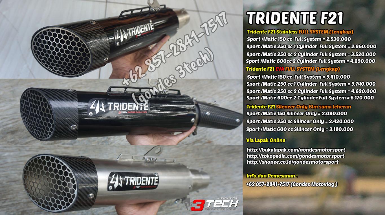 Harga Knalpot Tridente F21 Stryker