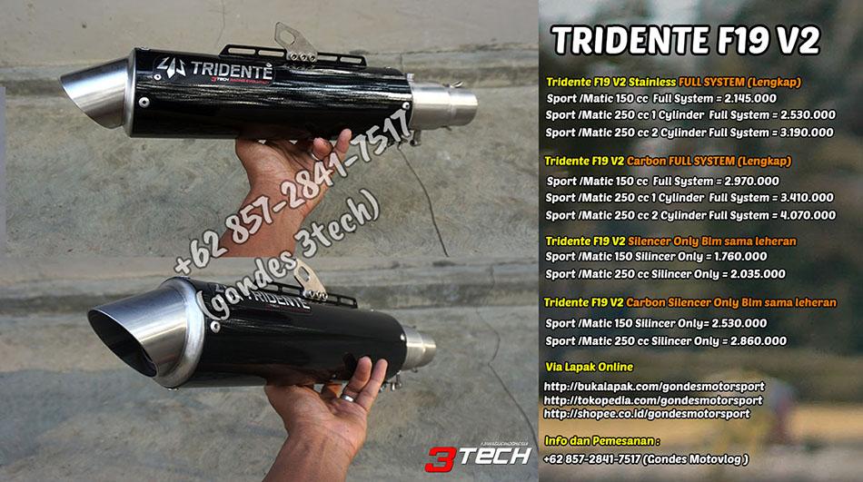 Knalpot Tridente F19 V2 3 Suara