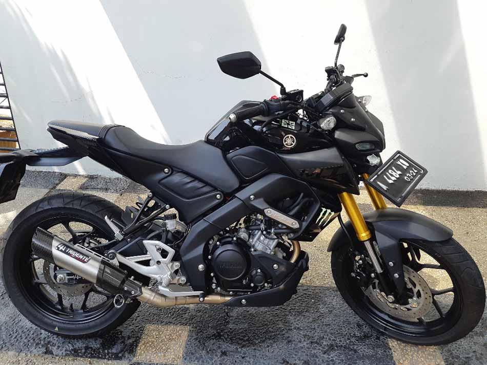 Knalpot Tridente F20 3 Suara Yamaha MT 15