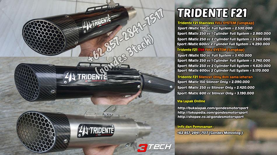 Knalpot Tridente F21 3 Suara
