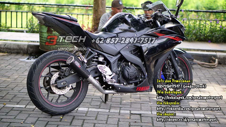 Knalpot Tridente 3 Suara Yamaha R25